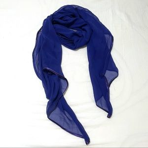 The Limited Purple Sheer Scarf